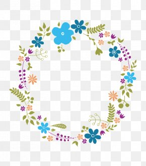 Floral Wreath - Flower Drawing Wreath Floral Design PNG