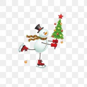 Snowman Christmas Tree - Santa Claus Christmas Tree Snowman PNG