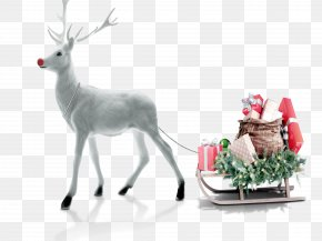 Christmas - Santa Claus Deer Christmas Sticker Gift PNG