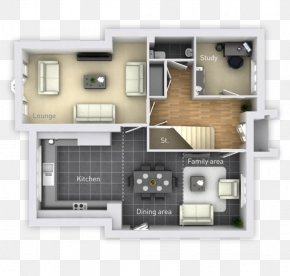 House - Floor Plan House Open Plan Home Family Room PNG