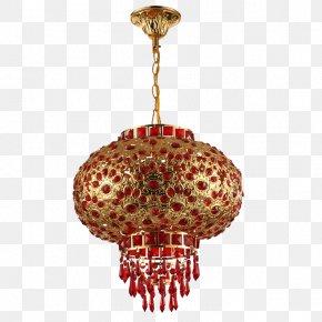 Chinese New Year Festive Lantern Chandelier - Chinese New Year Lantern Lunar New Year PNG