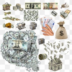 Textured Dollar Element - Cash Money Banknote Financial Transaction PNG