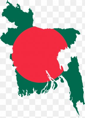 Map - Flag Of Bangladesh Map National Flag PNG