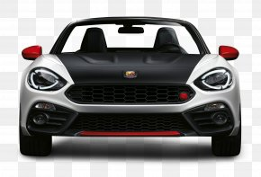 Black And White Fiat 124 Spider Abarth Front View Car - 2017 FIAT 124 Spider 2018 FIAT 124 Spider Mazda MX-5 Abarth PNG