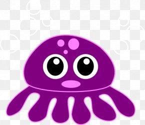 Cute Octopus Transparent Image - Octopus Cartoon Clip Art PNG