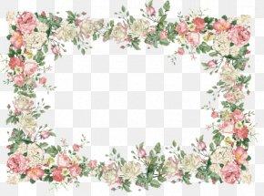 Flower - Borders And Frames Flower Picture Frames Clip Art PNG