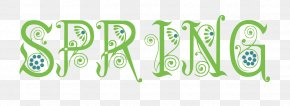 Happy Spring - Typeface Spring Clip Art PNG