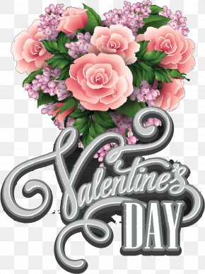 Valentine's Day Greeting & Note Cards Flower Bouquet Heart PNG
