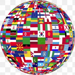 Country - Globe Flags Of The World United States PNG