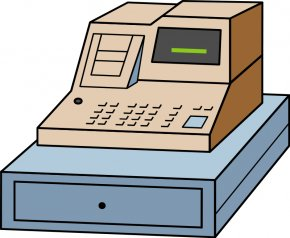 Cashier Cliparts Nice - Cash Register Money Clip Art PNG
