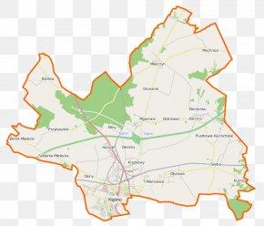 Map - Mikorzyn, Kępno County Mechnice, Greater Poland Voivodeship Hanulin Świba PNG