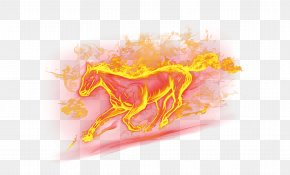 Running The Horses - Horse Fire Flame PNG