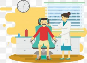 Room Hygiene Check Doctor - Dentist Physician Illustration PNG