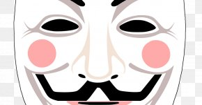 Mask - Gunpowder Plot Guy Fawkes Mask Anonymous V PNG