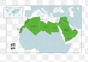 Middle East And Africa - MENA North Africa Arabian Peninsula Map World PNG
