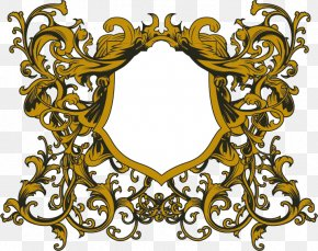 Texture Free Vector Gold Frame Buckle Material - Picture Frame Ornament Pattern PNG