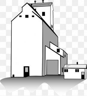 Elevator Cliparts - Silo Grain Elevator Clip Art PNG
