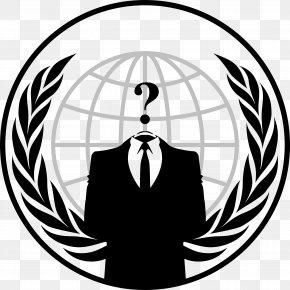 Anonymous Transparent - Security Hacker Hacktivism LulzSec Logo PNG