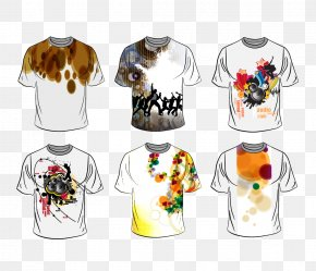 Hand-painted T-shirt Design Vector - T-shirt Fashion Clothing Designer PNG