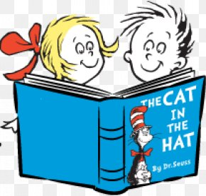 Reading Hat Cliparts - The Cat In The Hat One Fish, Two Fish, Red Fish, Blue Fish Green Eggs And Ham Oh, The Places Youll Go! Horton PNG