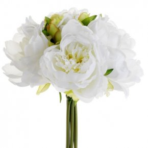 Peony - White Flower Bouquet Peony Floral Design PNG