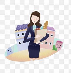 Business Women - Cartoon Commerce White-collar Worker Woman PNG