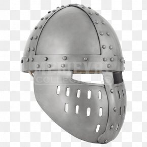 Knight - Spangenhelm Middle Ages Face Shield Crusades Knight PNG