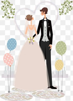 Vector Hand-painted Wedding - Christian Views On Marriage Wedding Illustration PNG