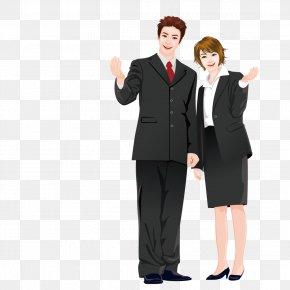 Business People Wearing Suits - Cartoon Suit Comics Illustration PNG