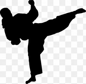 Karate - Martial Arts Karate Silhouette Wall Decal Combat PNG