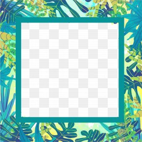 Summer Plant Vector Border - Plant Euclidean Vector Watercolor Painting PNG