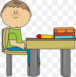 Classroom Desk Cliparts - Student School Desk Clip Art PNG