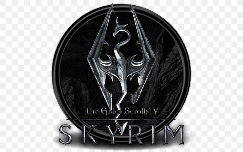 The Elder Scrolls V: Skyrim U2013 Dragonborn The Elder Scrolls Online The Elder Scrolls II: Daggerfall The Elder Scrolls III: Morrowind Oblivion, PNG, 512x512px, Elder Scrolls Online, Bethesda Softworks, Black And White, Brand, Elder Scrolls Download Free