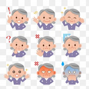 Grandma Expression Package - Woman Emotion Photography Royalty-free Illustration PNG
