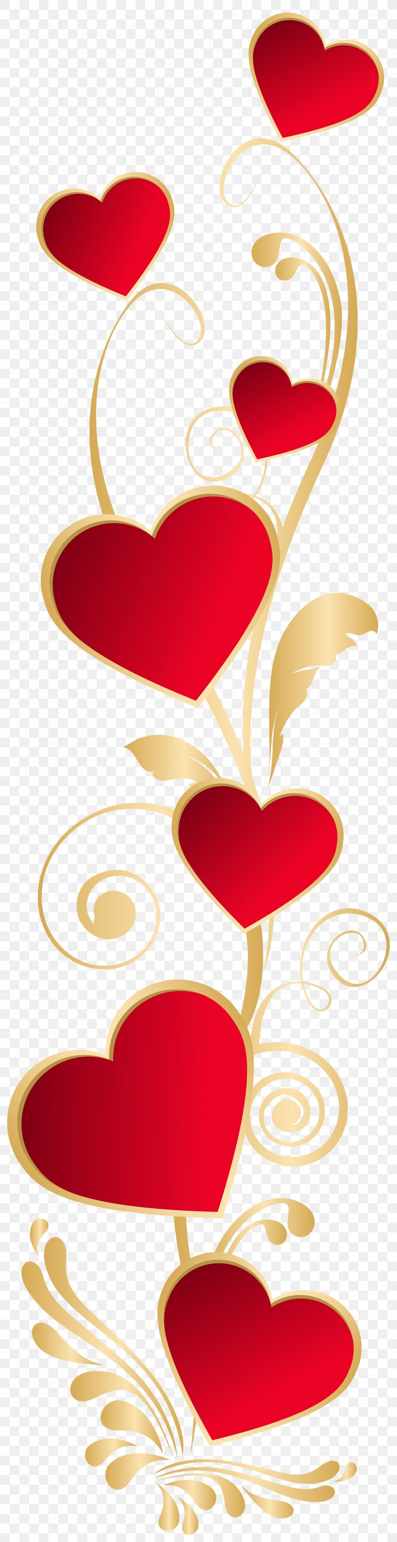 Heart Valentine's Day Clip Art, PNG, 2064x8000px, Heart, Art, Clip Art, Decorative Arts, Flower Download Free