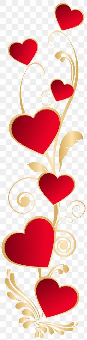 Hearts Deco Element PNG Clip Art - Heart Valentine's Day Clip Art PNG