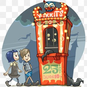 Ticket Booth - Box Office Ticket Carnival Cartoon Clip Art PNG