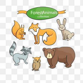 Cartoon Cute Animal Vector Material - Euclidean Vector Animal Download PNG