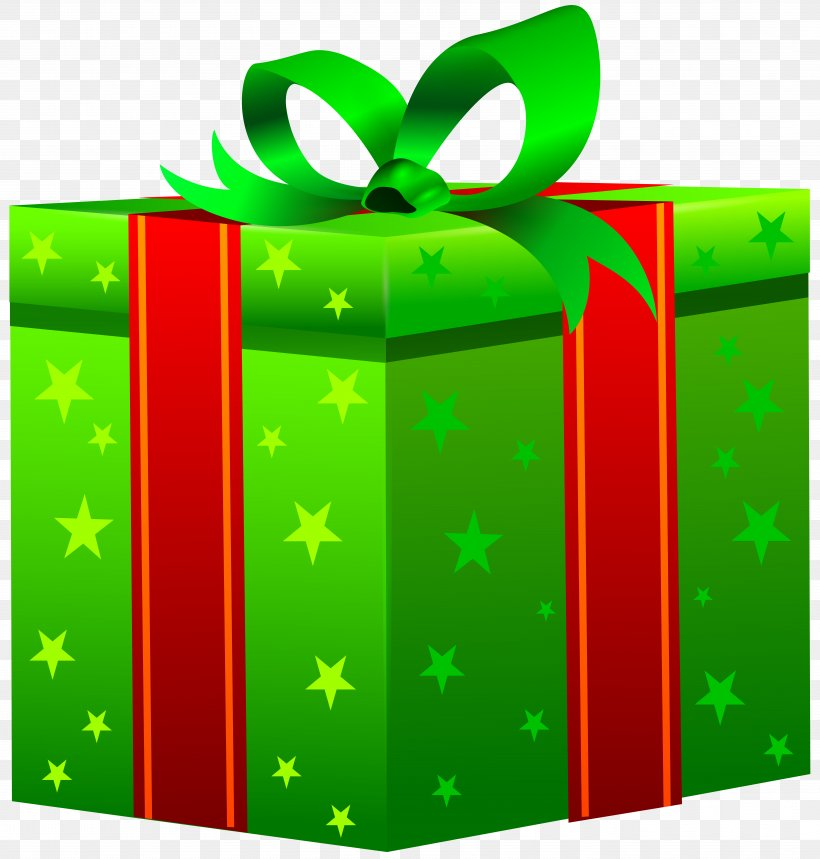Gift Box Christmas Day Clip Art, PNG, 7632x8000px, Gift, Box, Christmas, Green, Paper Clip Download Free