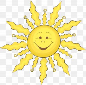 Cartoon Smiling Face Sun Vector - Cartoon Clip Art PNG