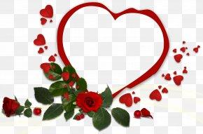 Love Frame - Morning Greeting Love Heart PNG
