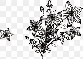 Creative Spring Black Flowers - Designer Euclidean Vector Computer File PNG