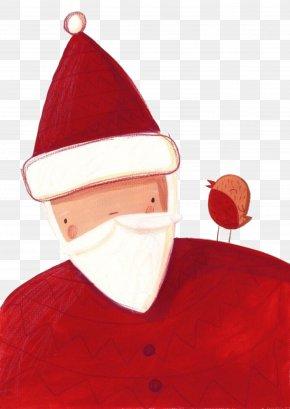 Hand-painted Santa Claus - Santa Claus Père Noël Rudolph Christmas Illustration PNG