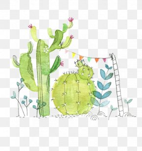 Watercolor Cactus - Cactaceae Watercolor Painting Paper Succulent Plant Illustration PNG