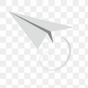White Paper Airplane - White Triangle Area Pattern PNG