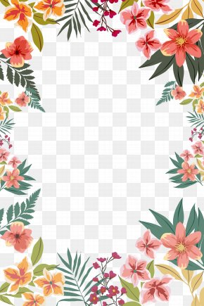 Summer Flower Border Shape - Flower Paper Clip Art PNG
