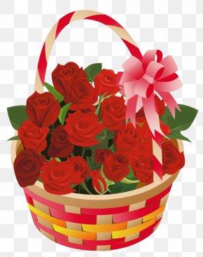 Roses Basket Clipart - Rose Basket Clip Art PNG