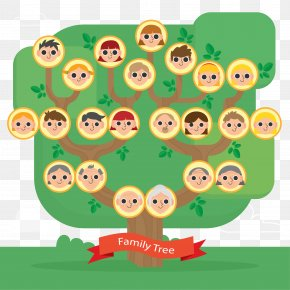 Member Family Tree Vector - Family Tree Flat Design PNG