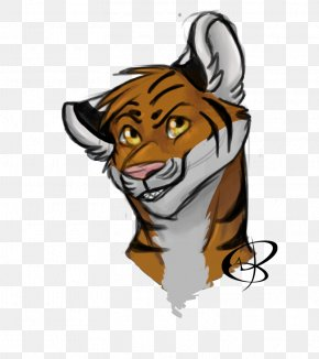 Tiger - Tiger Lion Cat Whiskers Clip Art PNG