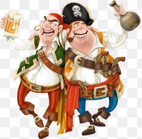 Cartoon Pirates - Cartoon Profession Character Fiction Illustration PNG